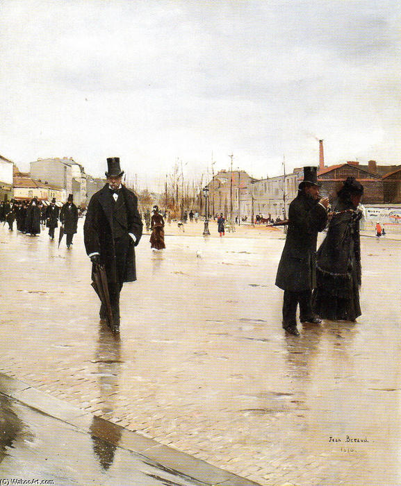 On the Way Back from the Funeral, 1876 by Jean Georges Béraud (1849-1936, France) | Museum Quality Copies Jean Georges Béraud | WahooArt.com
