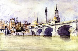 David Cox - The Opening of the New London Bridge