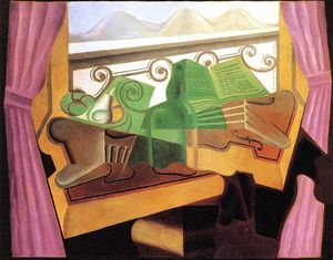 Juan Gris - Open Window with Hills