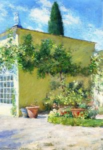 William Merritt Chase - Orangerie of the Case Villa in Florence