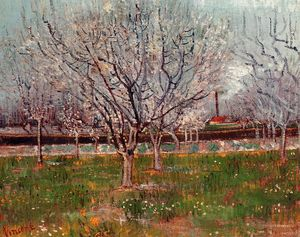 Vincent Van Gogh - Orchard in Blossom (also known as Plum Trees)