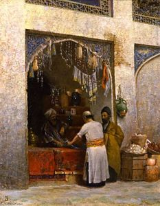 Order Oil Painting : Oriental Stall, 1868 by Vasily Vasilevich Vereshchagin (1842-1904, Russia) | WahooArt.com