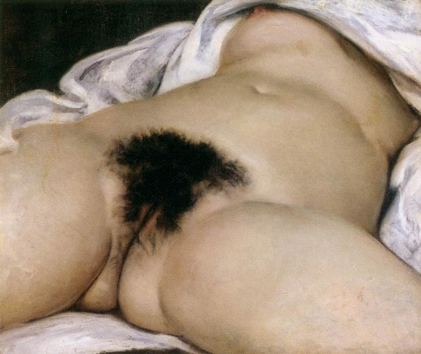 The origin of the world, Oil On Canvas by Gustave Courbet (1819-1877, France)