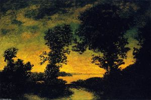 Ralph Albert Blakelock - Outlet of a Mountain Lake