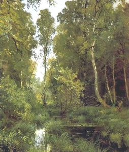 Ivan Ivanovich Shishkin - Overgrown pond on edge of forest, Siverskaya