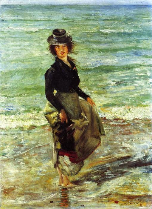Paddel-Petermannchen (also known as Charlotte Berend Paddling), Oil On Canvas by Lovis Corinth (Franz Heinrich Louis) (1858-1925, Netherlands)