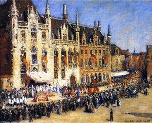 Colin Campbell Cooper - The Pageant at Bruges