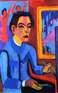 Ernst Ludwig Kirchner - The Painter (also known as Self-Portrait by the Window)