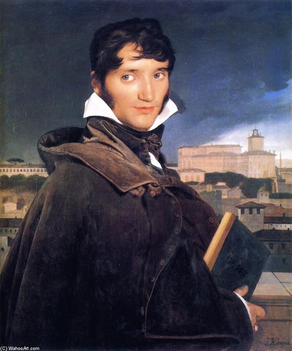 The Painter Francois-Marius Granet, Oil On Canvas by Jean Auguste Dominique Ingres (1780-1867, France)