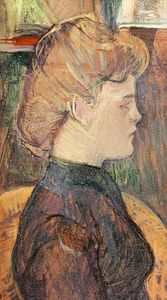 Henri De Toulouse Lautrec - The Painter's Model Helene Vary in the Studio