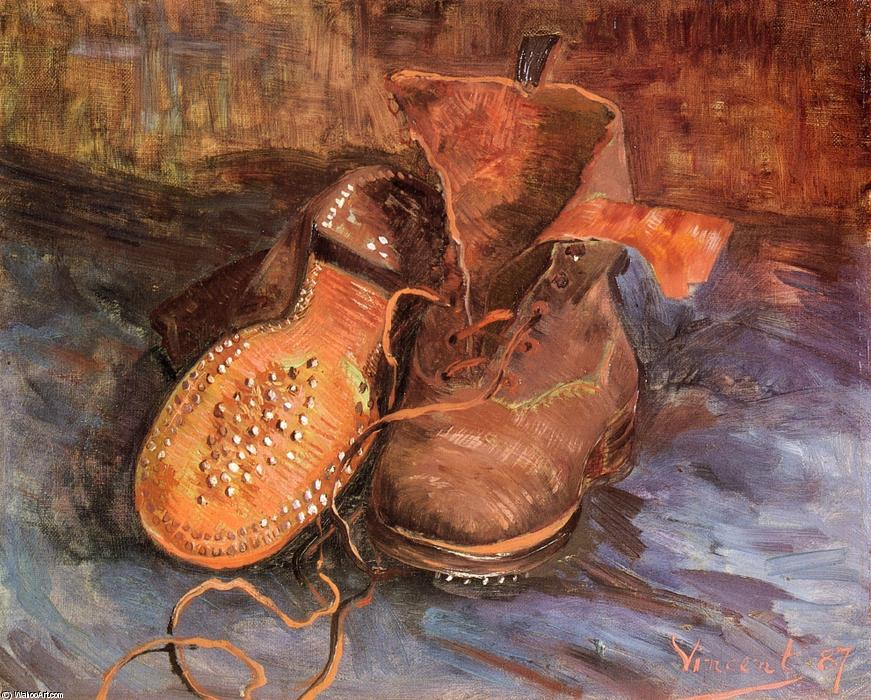 A Pair of Shoes, 1887 by Vincent Van Gogh (1853-1890, Netherlands) | Painting Copy | WahooArt.com