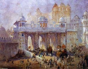 Colin Campbell Cooper - Palace Gate, Udaipur, India