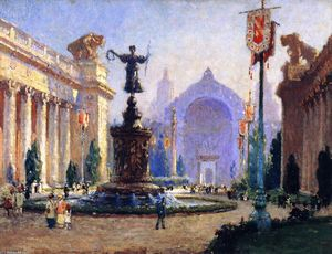 Colin Campbell Cooper - Panama-Pacific International Exposition (also known as Court of the Four Seasons)