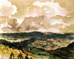 Eugène Delacroix - Panoramic View of the Vallée de la Tourmente