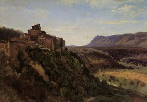 Jean Baptiste Camille Corot - Papigno - Buildings Overlooking the Valley