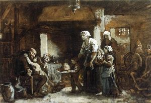 Jules Adolphe Aimé Louis Breton - A Party for Grandfather