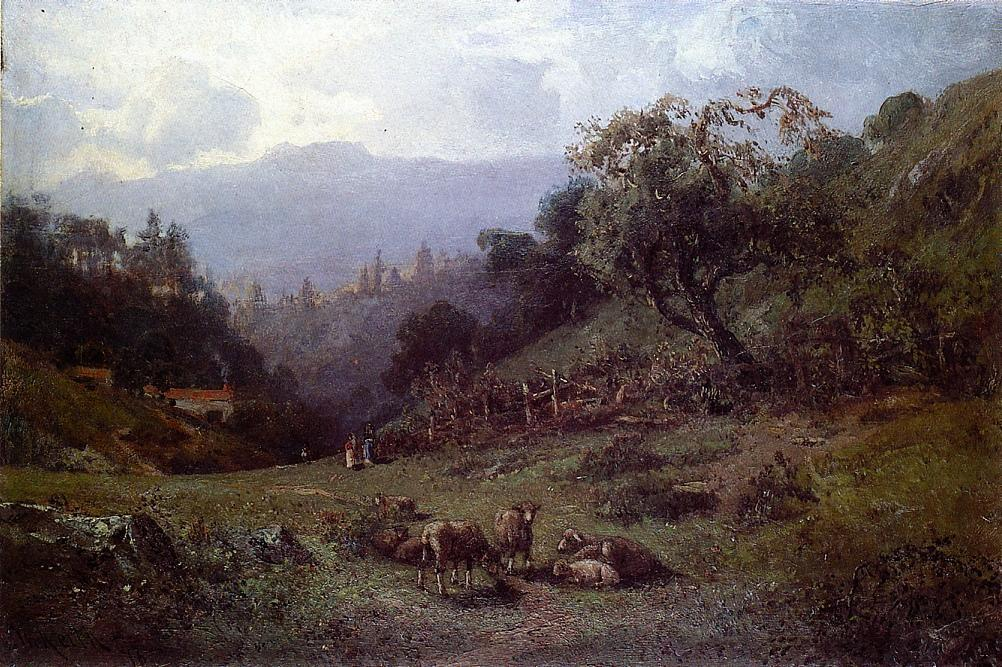 Pastoral Landscape, 1876 by William Keith (1838-1911, Scotland) | Oil Painting | WahooArt.com