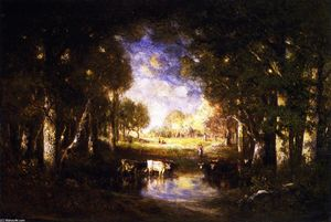 Gilbert Munger - Pastoral Scene at Fontainebleau