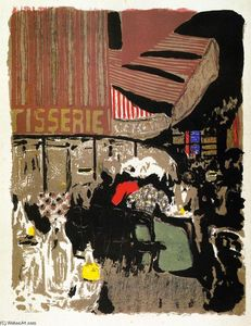 Jean Edouard Vuillard - The Pastry Ship (from the series Landscapes and Interiors--)--