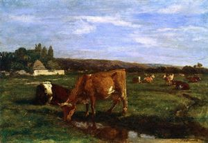 Eugène Louis Boudin - Pasture in the Touques Valley