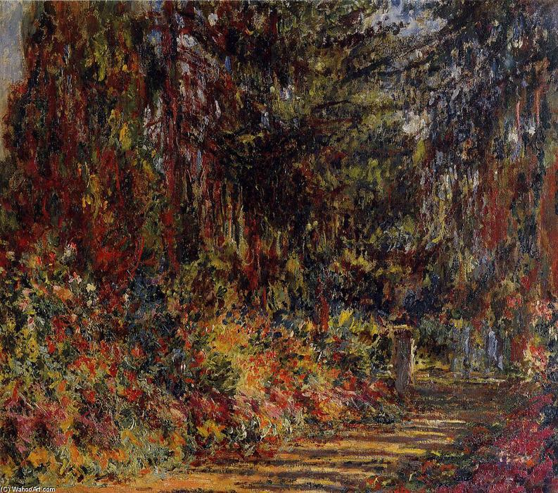 The Path at Giverny, 1902 by Claude Monet (1840-1926, France) | Museum Quality Copies Claude Monet | WahooArt.com