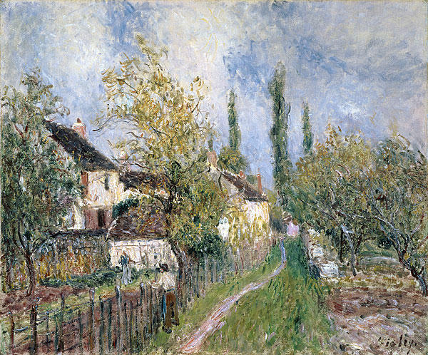 A Path at Les Sablons, Oil On Canvas by Alfred Sisley (1839-1899, France)