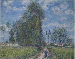 Order Oil Painting : Path near Saint Cyr Vaudreuil, 1900 by Gustave Loiseau (1865-1935, France) | WahooArt.com