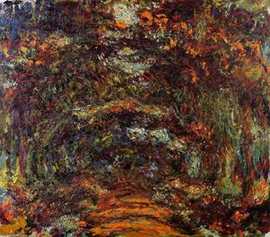 Claude Monet - The Path under the Rose Arches, Giverny