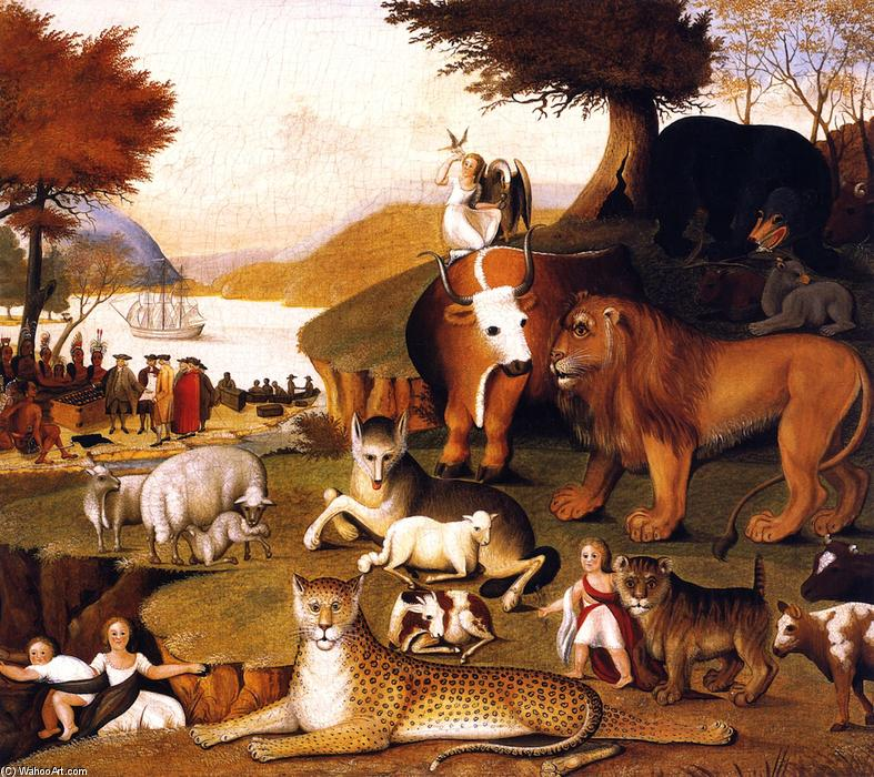 Peaceable Kingdom, 1846 by Edward Hicks (1780-1849, United States) | Museum Art Reproductions Edward Hicks | WahooArt.com