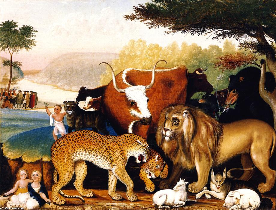 Buy Museum Art Reproductions | Peaceable Kingdom (11), 1844 by Edward Hicks (1780-1849, United States) | WahooArt.com