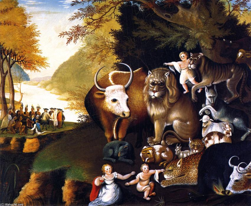Peaceable Kingdom (34), 1834 by Edward Hicks (1780-1849, United States) | Reproductions Edward Hicks | WahooArt.com