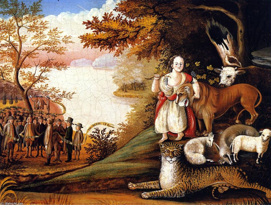 Peaceable Kingdom (42), 1829 by Edward Hicks (1780-1849, United States) | Reproductions Edward Hicks | WahooArt.com