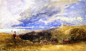 David Cox - Peace and War: Lympne Church and Castle