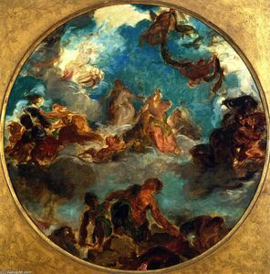 Eugène Delacroix - Peace Comes to Console Men and Restore Abundance