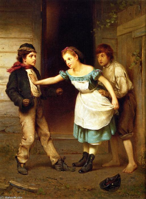 The Peacemaker, Oil On Canvas by John George Brown (1831-1913, United Kingdom)