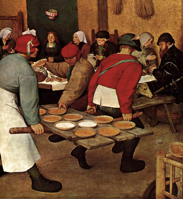 Peasant Wedding Detail 1568 By Pieter Bruegel The Elder 1525 1569 Belgium Art Reproduction
