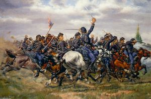 William Trego - The Pell Mell Charge