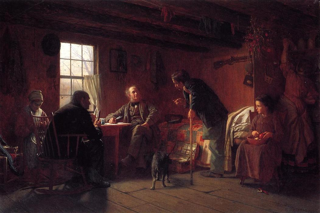 The Pension Claim Agent, Oil On Canvas by Jonathan Eastman Johnson (1824-1906, United Kingdom)