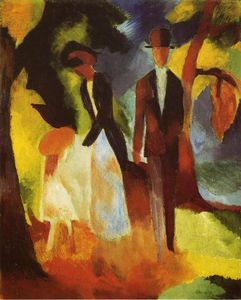 August Macke - People by the Lake