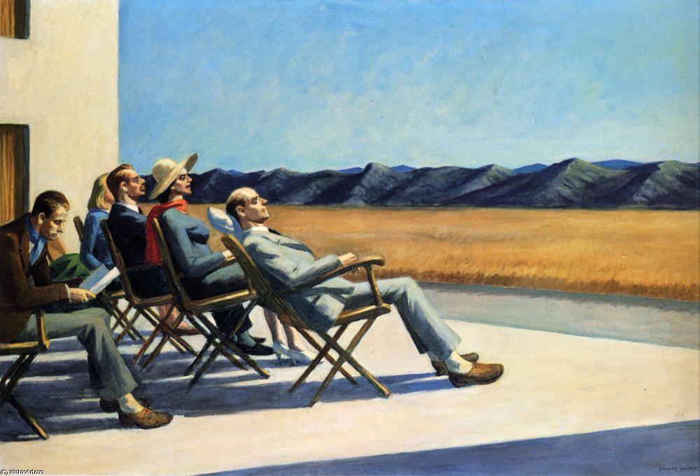 People in the Sun, Oil On Canvas by Edward Hopper (1882-1967, United States)