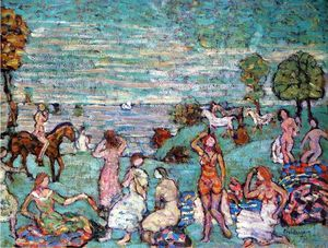 Maurice Brazil Prendergast - Picnic by the Sea
