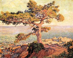Theo Van Rysselberghe - Pine by the Mediterranean Sea
