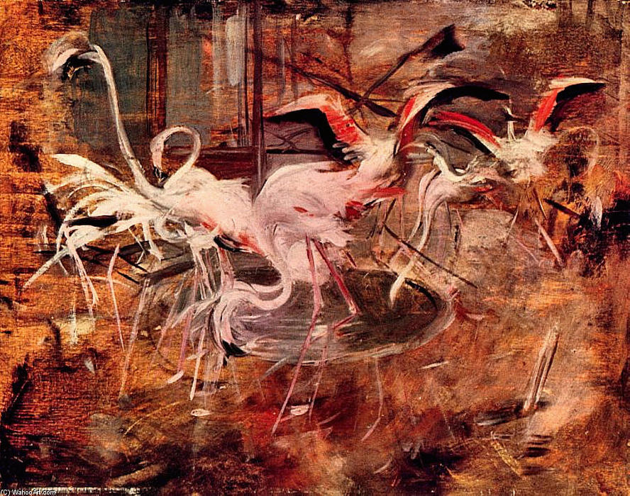 Pink Palace Ibis in the Vesinet (also known as Ibis del Palazzo Rosa a Vesinet), 1910 by Giovanni Boldini (1842-1931, Italy) | Art Reproduction | WahooArt.com