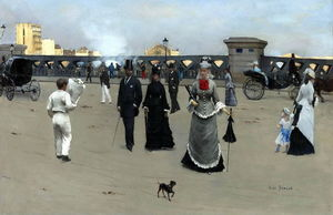 Jean Georges Béraud - The Place and Pont de l-Europe