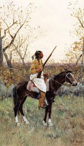 Henry F Farny - Plains Indian