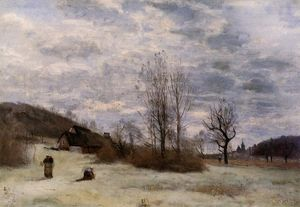 Jean Baptiste Camille Corot - Plains near Beauvais