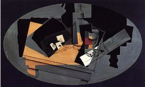 Juan Gris - Playing Cards and Siphon