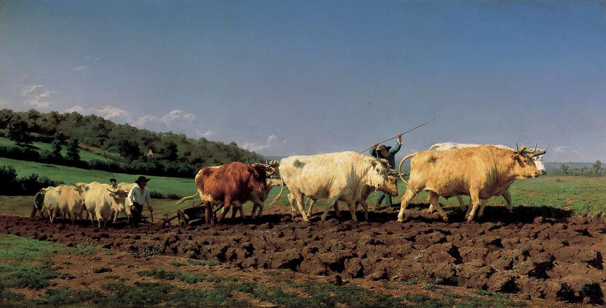 Plowing in the Nivernais, Oil On Canvas by Rosa Bonheur (1822-1899, France)