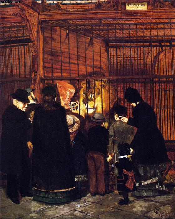 Pomp`` at the Zoo``, 1880 by Henry Ossawa Tanner (1859-1937, United States) | Art Reproduction | WahooArt.com
