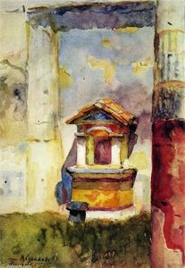 Vasili Ivanovich Surikov - Pompeii. A Fountain with Colonettes